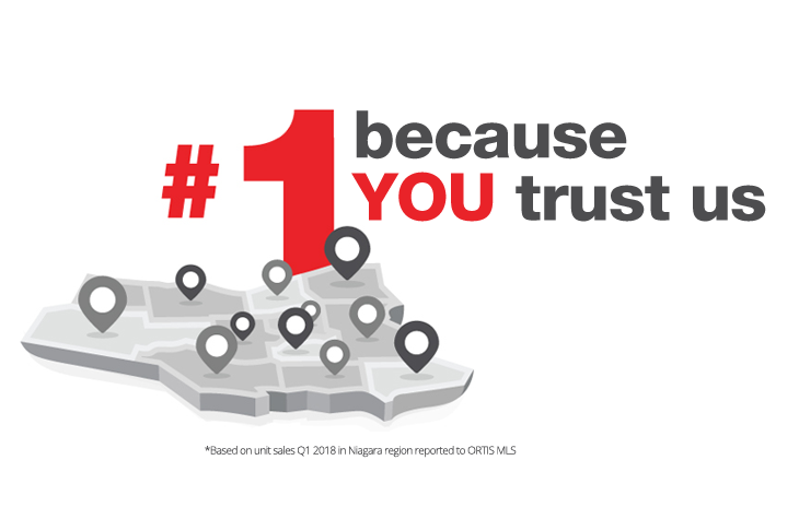 #1 because you trust us graphic
